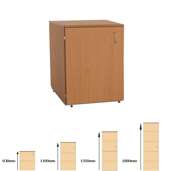 Cupboard-Single Door W600mm x H830mm-0