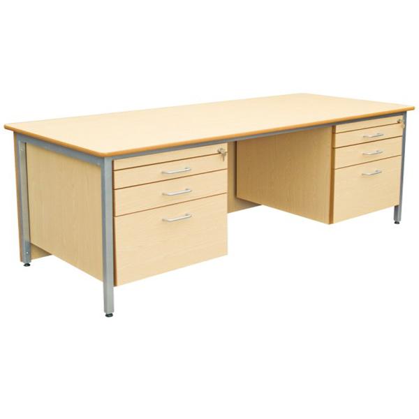 Classic Desk Double Pedestal-0