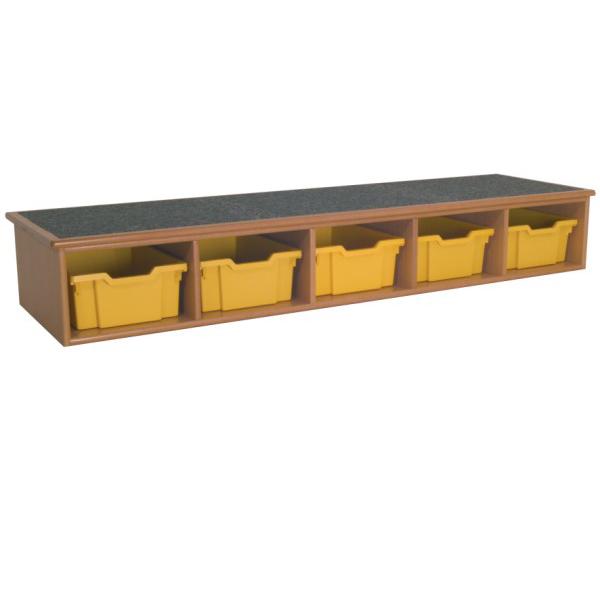 Single Whiteboard Step with Tray Storage-0