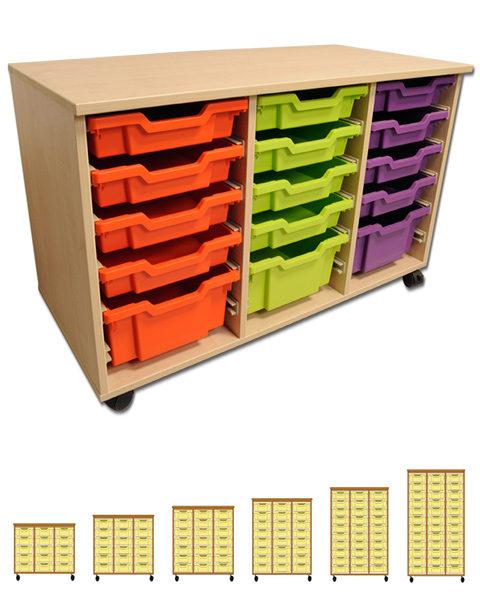 Three Column Tray Storage Units-0