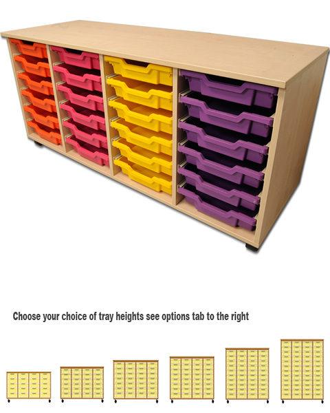 Four Column Tray Storage Units-0