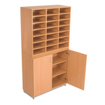 Post Unit -21 Bays with Cupboard-3138