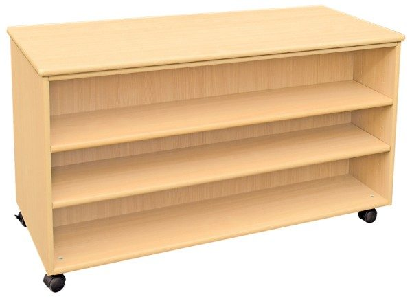 Mobile Double Sided Shelf Unit with Six Shelves-0