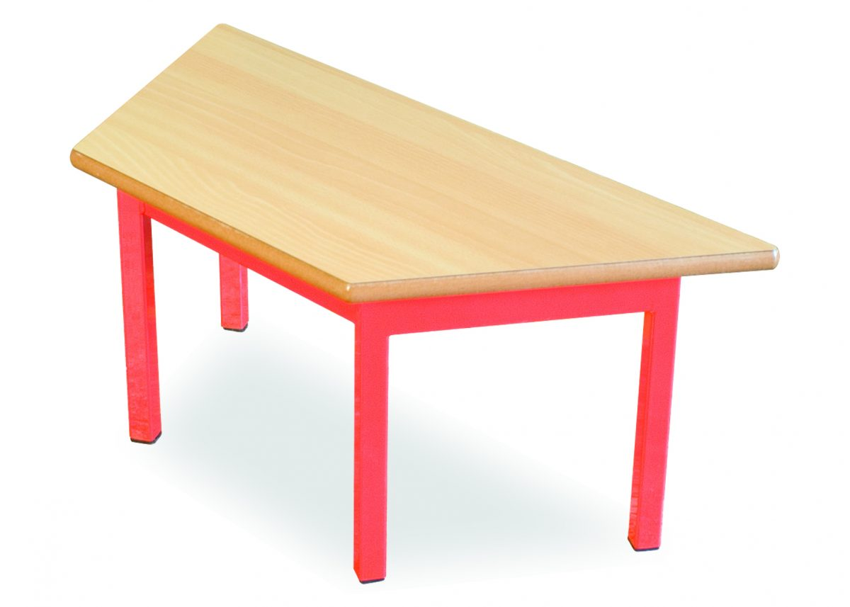 Small Trapezoid Display Table-0