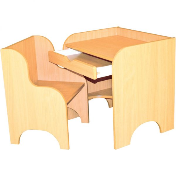 Wooden Nursery Desk & Chair-0