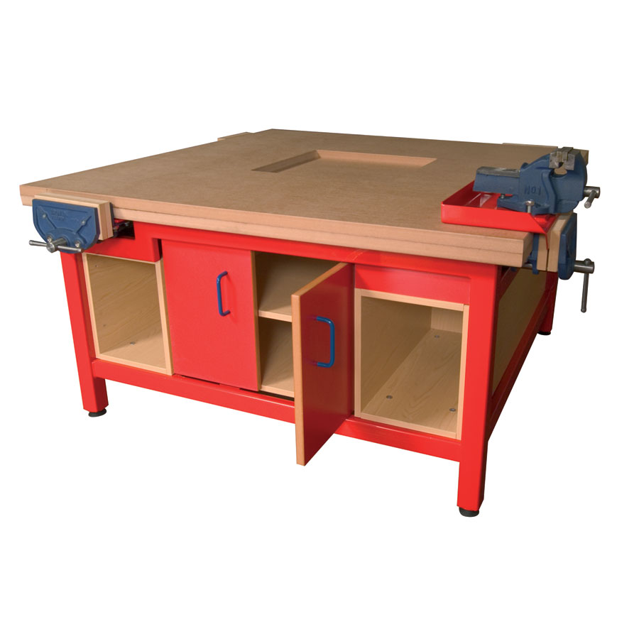 DT Craft Bench with Cupboard