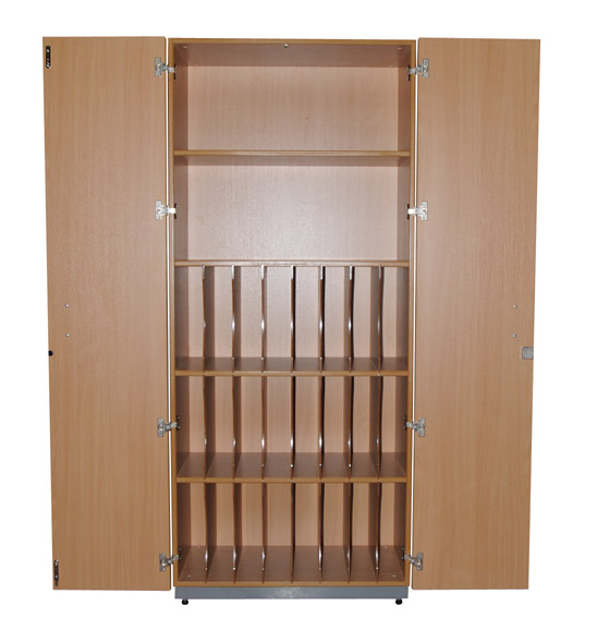 Lever Arch File Cupboard with Shelves-0