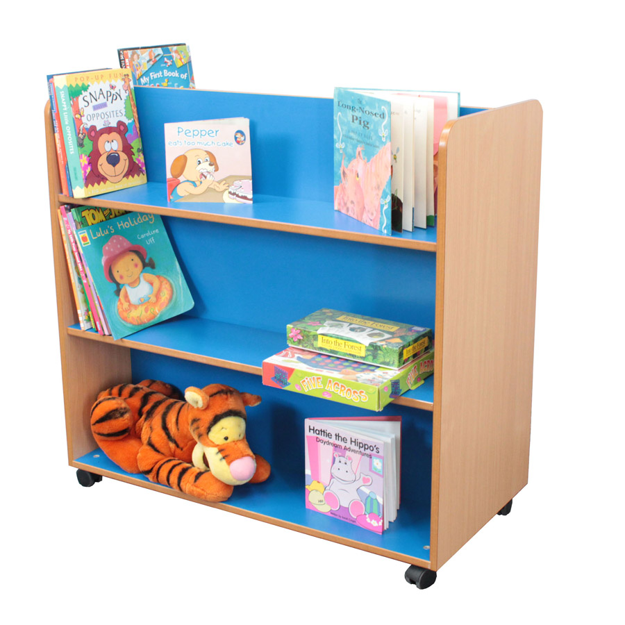 Double Sided Mobile Bookcase-0
