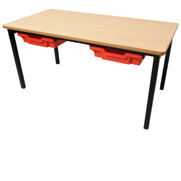Small Rectangular Table with Tray Storage-0