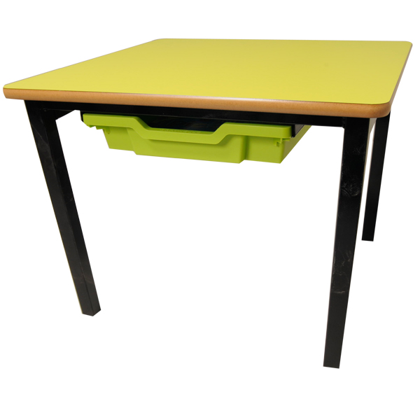 Small Square Table with Tray Storage-0