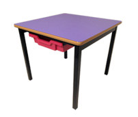 Small Square Table with Tray Storage-3396